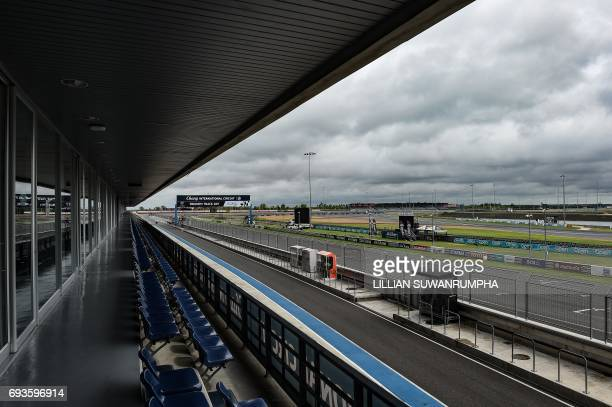 This photo taken on May 17 2017 shows the starting line of the Chang International Circuit Thailand's first FIA Grade 1 approved motorsport race...