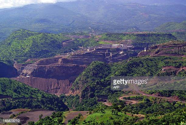 This photo taken on May 22 shows a view of the controversial Gibe III dam under construction in Ethiopia's Omo valley The Gibe III dam is set to be...