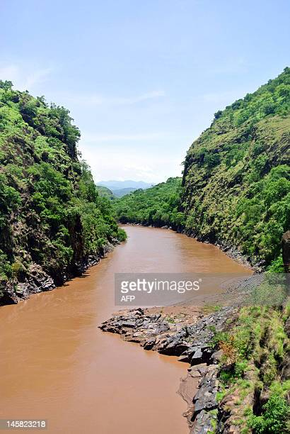 This photo taken on May 22 shows a view of the Omo river in Ethiopia's Omo valley A controversial Gibe III dam under construction in the Omo valley...