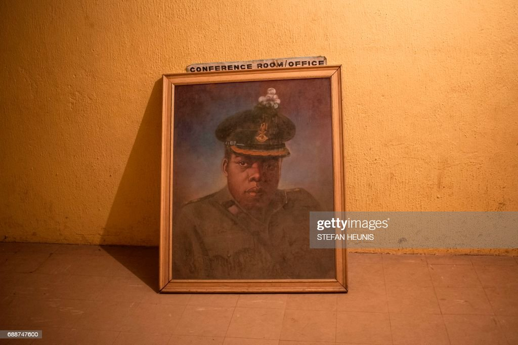 This photo taken on May 26, 2017 in Umuahia, southeast Nigeria, a painting of General Chukwuemeka Odumegwu Ojukwu of Biafra placed on the floor of the Ojukwu Bunker. The Nigerian civil wars 50th anniversary will be commemorated on May 30th. The war was triggered when the Igbo people, the main ethnic group in the southeast, declared an independent breakaway state, the Republic of Biafra.