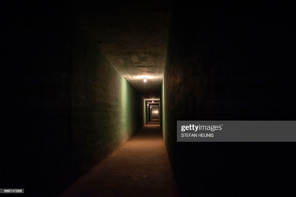 This photo taken on May 26, 2017 in Umuahia, southeast Nigeria, a view down the entrance passage of the Ojukwu Bunker. The Nigerian civil wars 50th anniversary will be commemorated on May 30th. The war was triggered when the Igbo people, the main ethnic group in the southeast, declared an independent breakaway state, the Republic of Biafra.