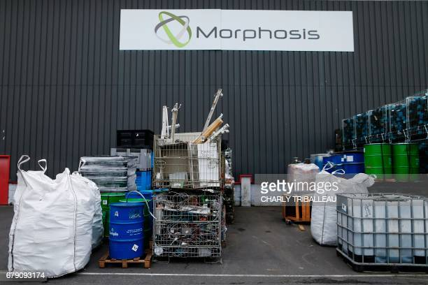 This photo taken on May 3 2017 in Le Havre northwestern France shows sorted electronics waste at the Morphosis plant Morphosis extracts and refines...