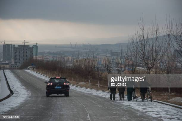 This photo taken on November 21 2017 shows a general view of the city of Rason At the northeastern tip of North Korea where the isolated nucleararmed...