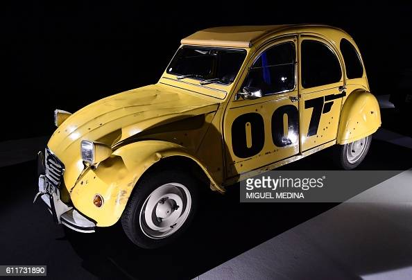 this photo taken on october 1 2016 shows a citroen 2 cv car used for the james bond film 39 for. Black Bedroom Furniture Sets. Home Design Ideas