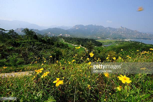 This photo taken on September 1 2011 shows a golf course which has been closed for over three years at the Mount Kumgang international tourist zone...