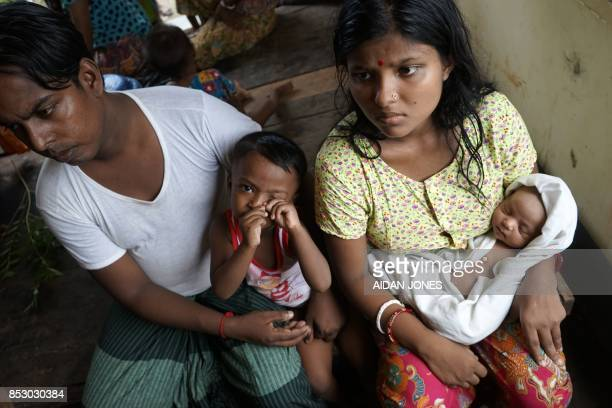 This photo taken on September 22 2017 shows 20yearold Hindu girl Chaw Shaw Chaw Thee who believes 23 members of her family are dead after Rohingya...