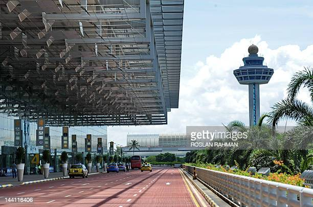This photograph taken on May 9 2012 shows the departure hall entrance of Singapore's Changi international airport terminal 3 Singapore's Changi...
