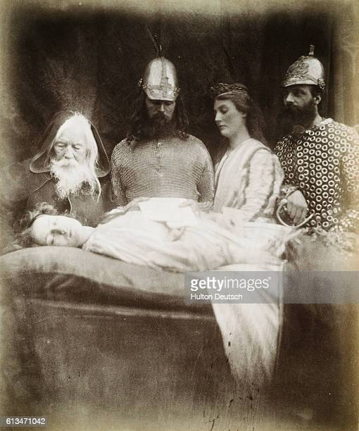 This photograph was one of the illustrations for Idylls of the King and Other Poems by the photographer's friend Lord Alfred Tennyson It shows Elaine...