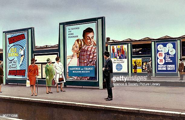 This photograph was taken to show the kinds of places where adverts could be put up where they were seen by large numbers of people For this reason...