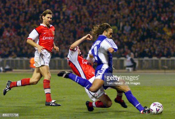 This picture can only be used within the context of an editorial feature Fiorentina's captain Gabriel Batistuta shoots the winning goal that put...