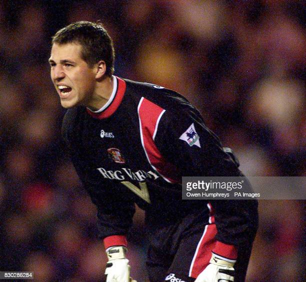 This picture can only be used within the context of an editorial feature Sunderland's goalkeeper Thomas Sorensen during their Premiership football...