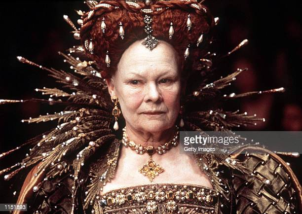 This picture released by Miramax Films shows actress Judy Dench playing Queen Elizabeth I in the film 'Shakespeare in Love' Dench has been nominated...