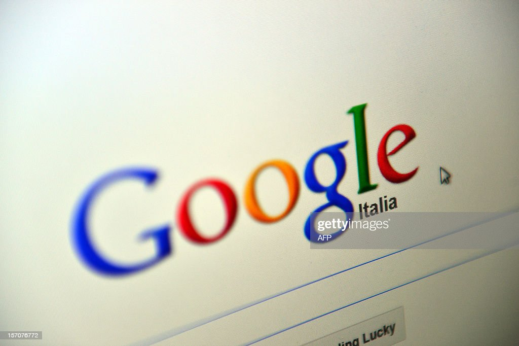 This picture shows a computer screen with the Italian website Google on November 28, 2012 in Rome. A probe by Italian tax authorities into US Internet giant Google's Italian arm has found it failed to declare income of 240 million euros ($310 million) and pay value added tax of 96 million euros.