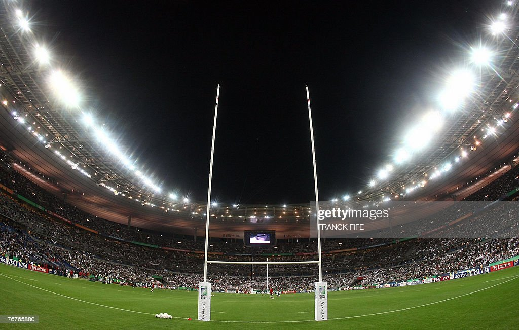 This picture shows a general view of the Stade de France Stadium during the rugby union World Cup group A match between South Africa and England 14...