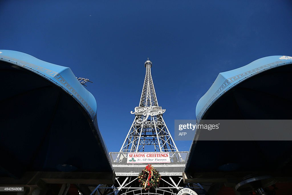 This picture shows a tower resembling Paris's Eiffel Tower in Brisbane on December 8, 2013
