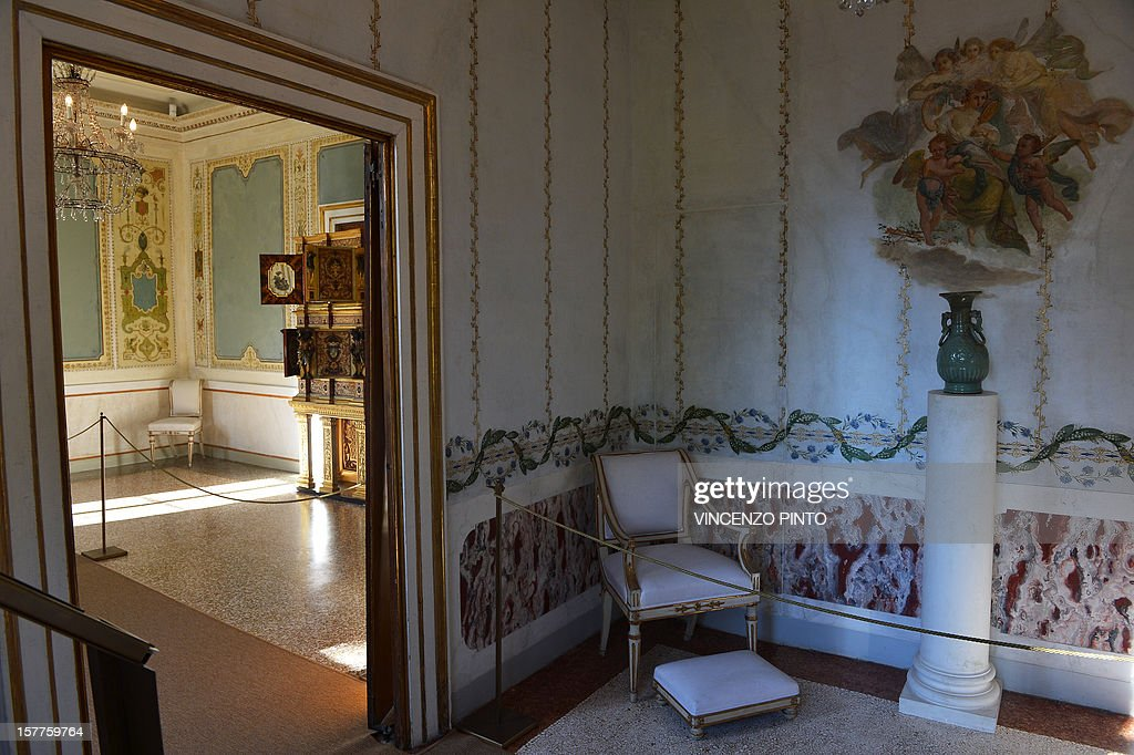 This picture shows a view of the Empress' study room in the Imperial apartments of the Royal Palace on December 3, 2012 at the Correr museum in Venice.The rooms reserved to the Princess Sissi in the Imperial Apartments of the Royal Palace in Venice, in St Mark's Square, are opening to the public after a restauration of nine spaces.