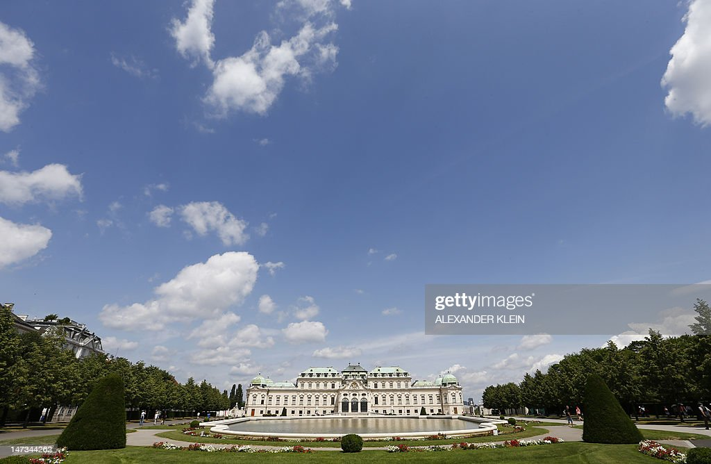 This picture shows the Belvedere Palace on a sunny day in Vienna on June 28 2012 AFP PHOTO / ALEXANDER KLEIN