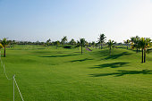 This picture shows the fairway of 10th green of Blue Bay LPGA 2015 at Jian Lake Blue Bay golf course on October 31 2015 in Hainan Island China
