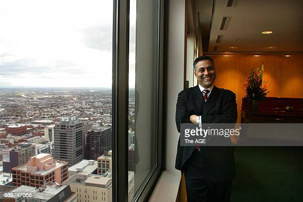 This picture shows the new CEO of the National Australia Bank Ahmed Fahour 11 August 2004 The Age Picture by NICOLE EMANUEL
