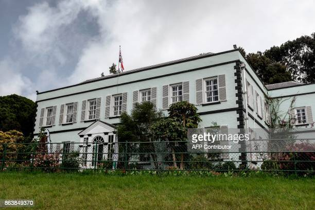 This picture shows the Plantation House the United Kingdom Governor official residence on October 20 2017 in Saint Helena a British Overseas...