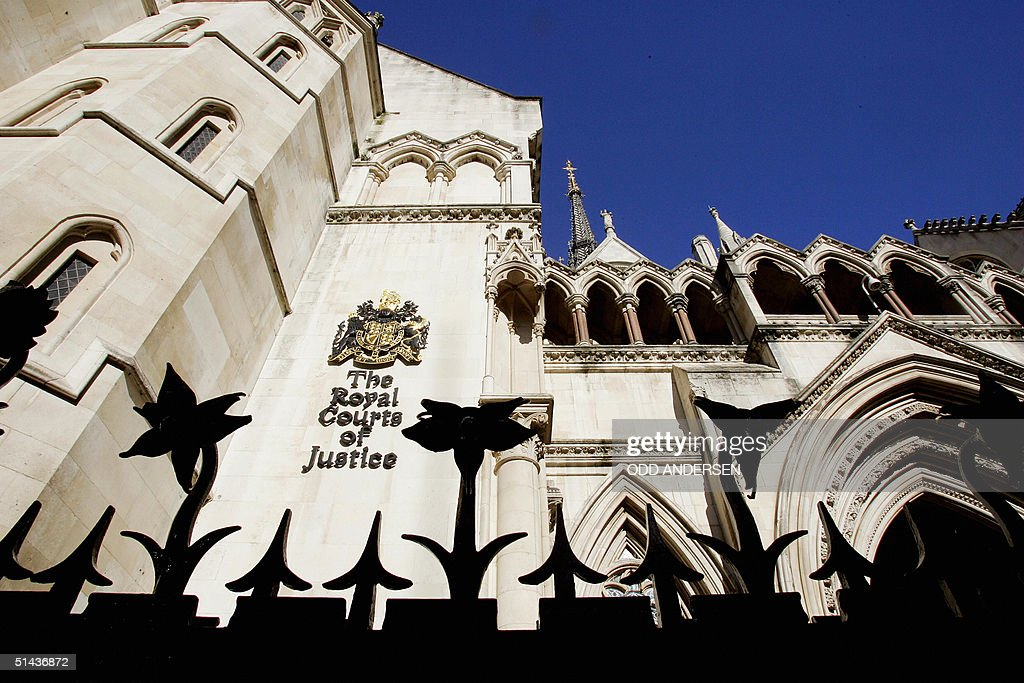 This picture shows the Royal Courts of Justice in London where Japan's Sumitomo Corporation has launched a suit against Credit Agricole 07 October...