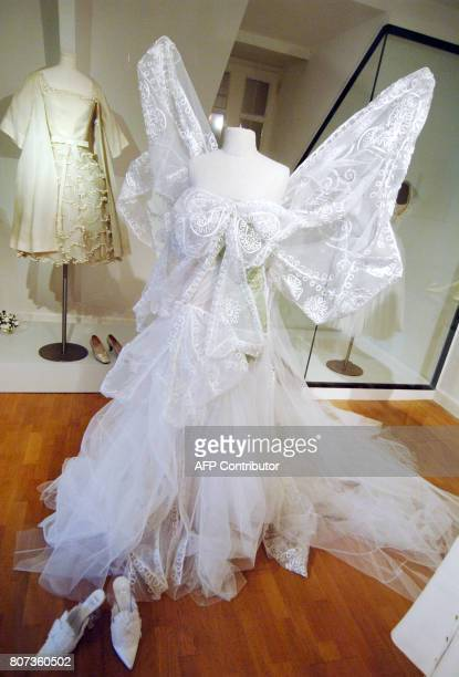 This picture taken 14 May 2007 shows a creation by Dior as part of an exhibition in the house where Christian Dior was born in Granville on the...