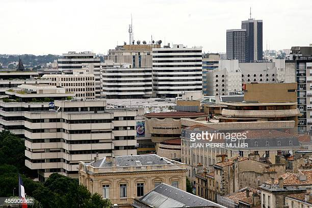 This picture taken 29 June 2007 shows a general view Meriadec area in the French southwestern town of Bordeaux The city home to one of Europe's...