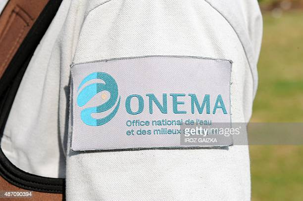 This picture taken near Itxassou shows a sleeve with the ONEMA logo on September 4 2015 AFP PHOTO / GAIZKA IROZ