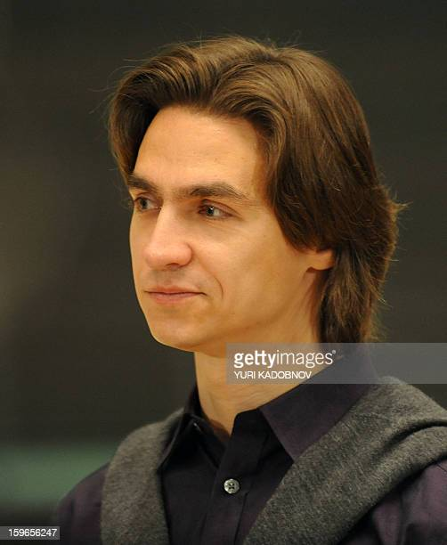 This picture taken on April 7 2011 shows artistic director of the Bolshoi theatre Sergei Filini speaking to media at the Bolshoi theatre in Moscow...