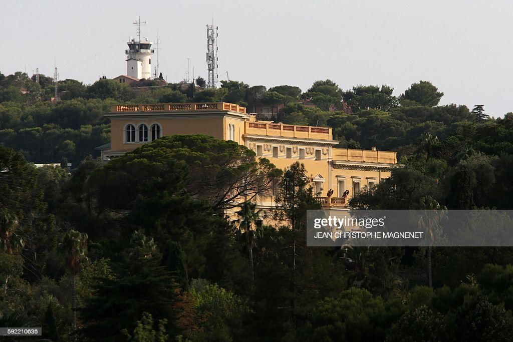 This picture taken on August 19, 2016 shows the villa \'Les Cèdres ...