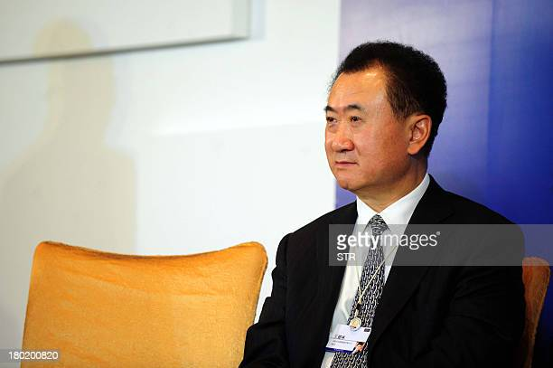This picture taken on December 12 2012 shows Wang Jianlin head of conglomerate Wanda Group a private firm with interests ranging from property to...