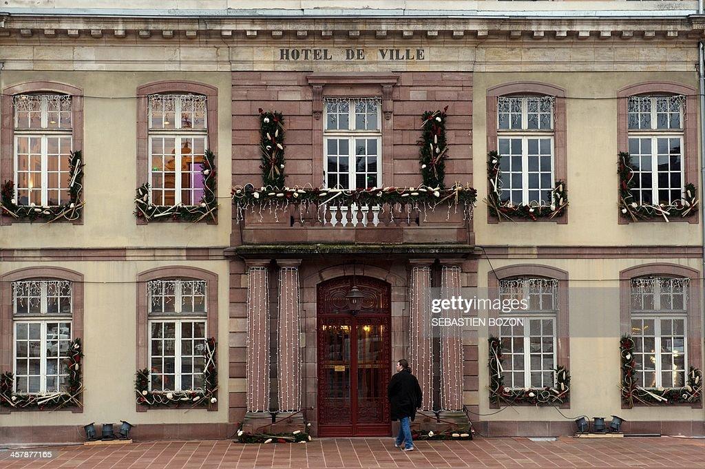 This picture taken on December 19, 2013 in Belfort, eastern France, shows Belfort's city hall. AFP PHOTO / SEBASTIEN BOZON
