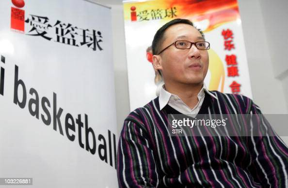 This picture taken on December 29 2009 shows Chinese businessman Kenny Huang posing during a press conference to promote his magazine 'I Basketball'...