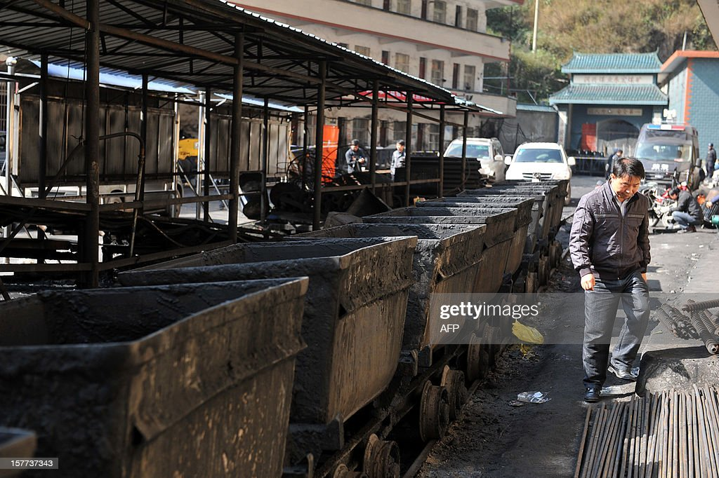 This picture taken on December 5, 2012 shows the closed shangchang Coal Mine in Fuyuan, southwest China's Yunnan province, following an explosion on December 4. The gas blast left 17 people dead on December 4, 2012, state press said of the latest accident in the dangerous industry. CHINA