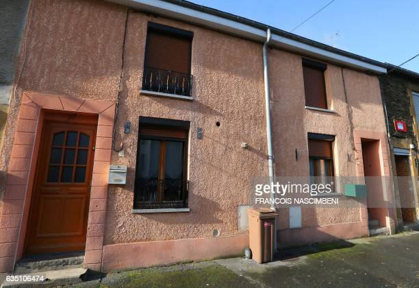 This picture taken on February 13 2017 in HautesRivieres northern France shows the alleged house of a 20yearold man arrested the week before in...