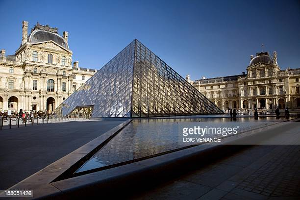 This picture taken on February 16 2010 in Paris shows the pyramid of the Louvre AFP PHOTO LOIC VENANCE