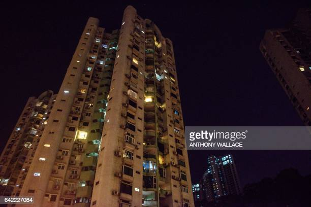 This picture taken on February 16 2017 shows the exterior of a residential building where Kim JongNam halfbrother of a North Korean leader Kim JongUn...