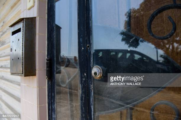 This picture taken on February 16 2017 shows the front door of an oceanfront villa one of the properties where Kim JongNam halfbrother of a North...