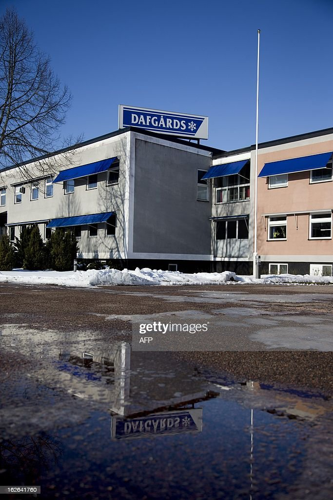This picture taken on February 25, 2013 shows exteriors of Dafgard food company in Lidkoping. Furniture retailer IKEA says it has halted all sales of meat balls in Sweden after Czech authorities detected horse meat in frozen meatballs that were labeled as beef and pork and distributed mostly by Dafgard. AFP PHOTO / ADAM IHSE / SCANPIX SWEDEN/SWEDEN OUT