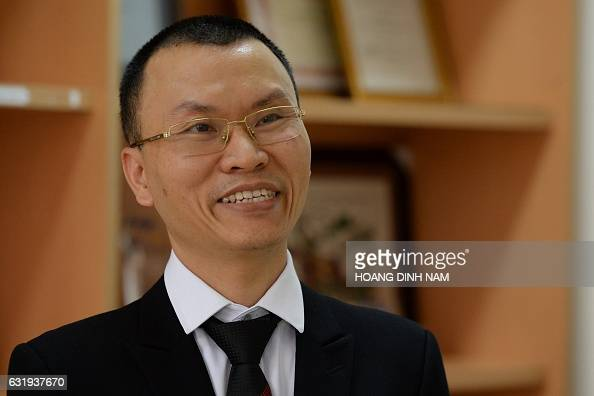 This picture taken on January 11 2017 shows Trinh Van Ngan Ford Vietnam's Technical Director speaking during an interview with AFP at the Ford...