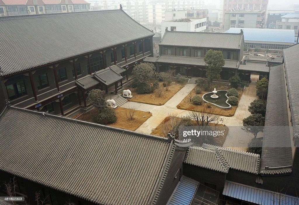 This picture taken on January 17 2014 shows former general Gu Junshan's Henan residence in Puyang central China's Henan province Gu Junshan a former...