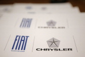 This picture taken on January 29 2014 shows a Fiat Chrysler notebook at Fiat headquarters in Lingotto in Turin Italian car giant Fiat announced today...