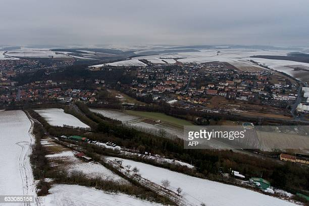 This picture taken on January 30 2017 shows a view of the city of Arnstein central Germany where six teenagers were found dead Six teenagers were...