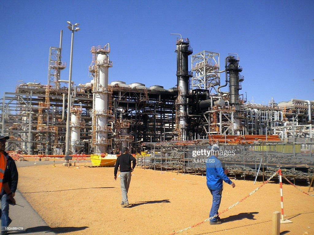 This picture taken on January 31, 2013 shows a desert gas plant after it opened for the press the first time after dozens of foreigners were killed during a four-day standoff that ended in a bloody showdown with Algerian commandos in In Amenas. Algeria has said 38 workers, out of which 37 were foreign, and 29 kidnappers died in the hostage taking.