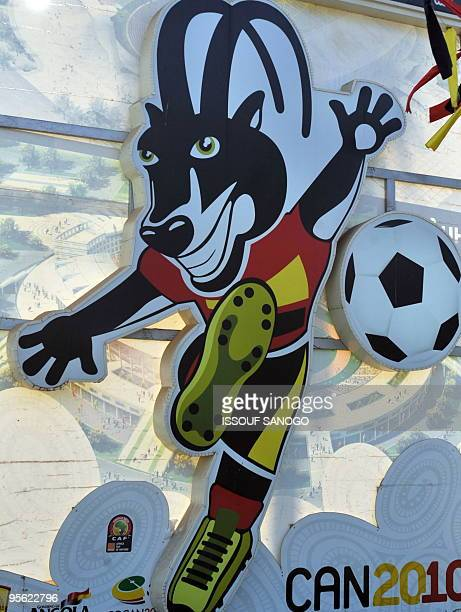 This picture taken on January 6 2010 shows Palaquinha the official mascot of the 2010 Africa Cup of Nations in Angola in a street in Luanda four days...