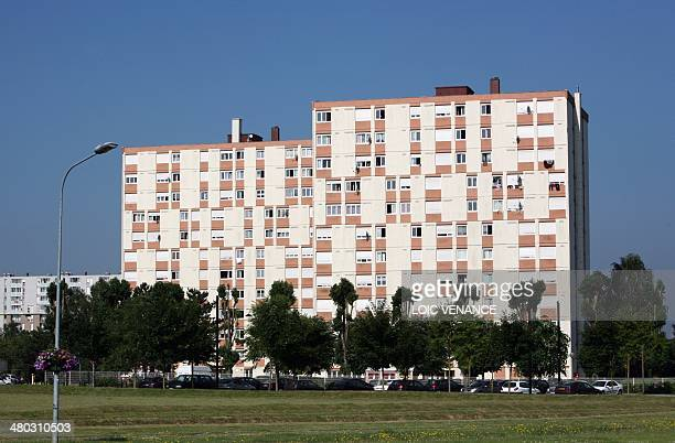 This picture taken on July 1 2009 in Trappes outside Paris shows appartment buildings AFP PHOTO LOIC VENANCE
