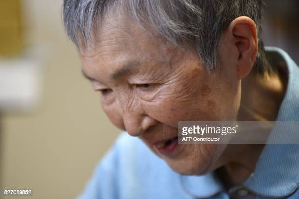 This picture taken on July 13 2017 shows 82yearold programmer Masako Wakamiya during an interview with AFP in Fujisawa Kanagawa prefecture When...
