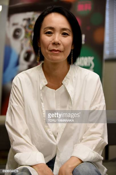 This picture taken on June 1 2017 shows Japanese director Naomi Kawase posing for a photograph during an interview with Agence FrancePresse during...