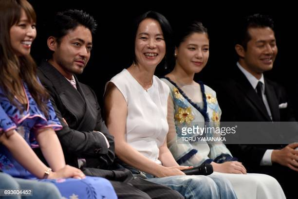 This picture taken on June 1 2017 shows Japanese director Naomi Kawase smiling during the Shortshorts Film Festival and Asia 2017 in Tokyo Japan's...
