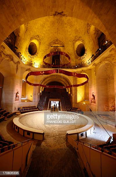 This picture taken on June 15 2013 shows the horse riding ring of the renovated Musee du Cheval in Chantilly north of Paris Closed ten month for...